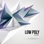 picture of triangular pyramids  - Low poly triangular background - JPG