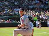 Red Sox Closer Jonathan Papelbon Warms Up In Bullpen