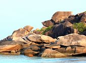 stock photo of snoopy  - Thailand Snoopy Rock at Similan National park - JPG