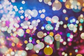 picture of colore  - Festive Background With Natural Bokeh And Bright Golden Lights - JPG