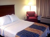 Generic Hotel Or Guest Room With Lights