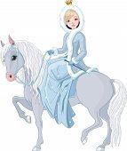Montar a caballo de la princesa. Invierno