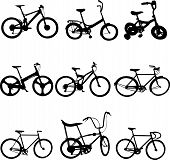 bicycles - vector