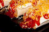 Mexican Burritos Closeup