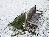Lonely winter chair