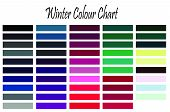 Winter colour swatch