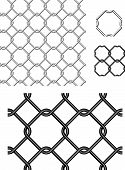 Seamless Wire Fence Vector Pattern