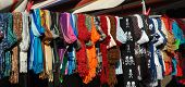 foto of crips  - arrayed colored dresses in a market in padua - JPG