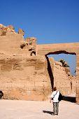 image of skarabaeus  - ancient karnak temple in luxor in egypt - JPG