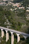 foto of skyway bridge  - Bridge in the mountains near Eze Village a little ancient village in France in Alpes Maritimes - JPG