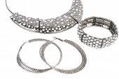 Silver Set Modern Jewelry