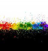 Respingos de tinta de cor. Fundo do vetor de gradiente