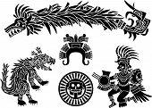 Aztec stecil set