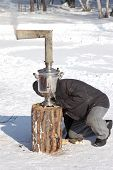 Firing Of Samovar At Shrovetide
