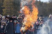 Burning Winter Effigy At Shrovetide