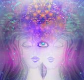 Woman With Third Eye, Psychic Supernatural Senses poster