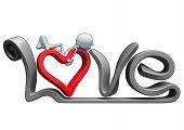 3D Love Text