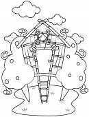 Line Art Tree House