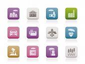 diferentes tipos de iconos de seguro y riesgo