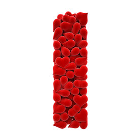 stock photo of alphabet letters  - a lot of hearts of velvet in the form of letters - JPG
