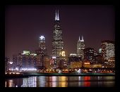 Chicago in der Nacht