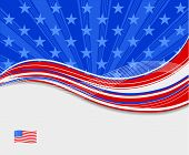 background american flag design for 4th july