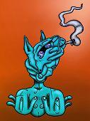 Blue Horse illustration