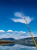 Fishing on Lake Laberge, Yukon Territory, Canada