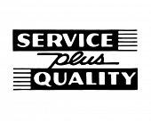 Service Plus Quality - Retro Ad Art Banner
