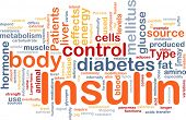 image of diabetes mellitus  - Background concept wordcloud illustration of insulin diabetes control - JPG
