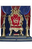 beautiful royal throne with a crown