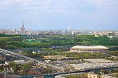 Stadium Luzniki And University At Moscow, Russia