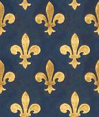 Seamless floral pattern. Old wall with Medicis' golden lilies from Palazzo Vecchio in Florence (italy)