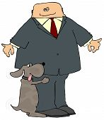 picture of hump  - This illustration depicts a dog humping a mans leg - JPG