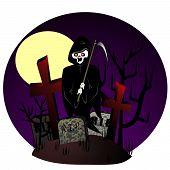 Reaper op begraafplaats