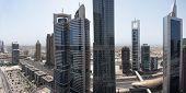 Sheikh Zayed Road Aerial View