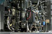 Inside Outboard Motor Detail
