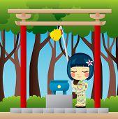 Japanese Girl Praying
