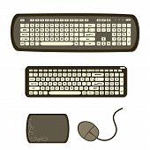 Set Of Keyboards Flat Design. poster