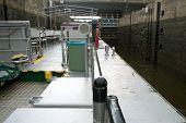 Boat In Sluice Gate
