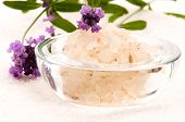 Bath Salt With Fresh Lavender Flowers