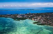 Panorama of Cebu city from airplane. Philippines. Cebu is the Philippines second most significant me poster