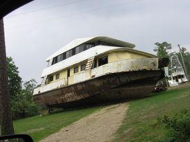 stock photo of katrina  - hurricane Damage by Katrina - JPG