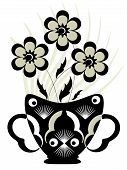 Decor with flowers , vector
