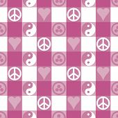 Peace Plaid_Pink
