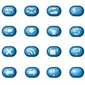 Web Icons A, Blue