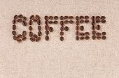 Cafe Menu Background: Coffee Beans On Canvas