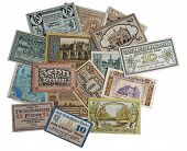 Old German money.