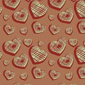 Seamless Background With Original Hearts