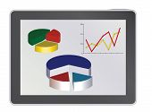 Tablet Pc With Analytics Diagrams